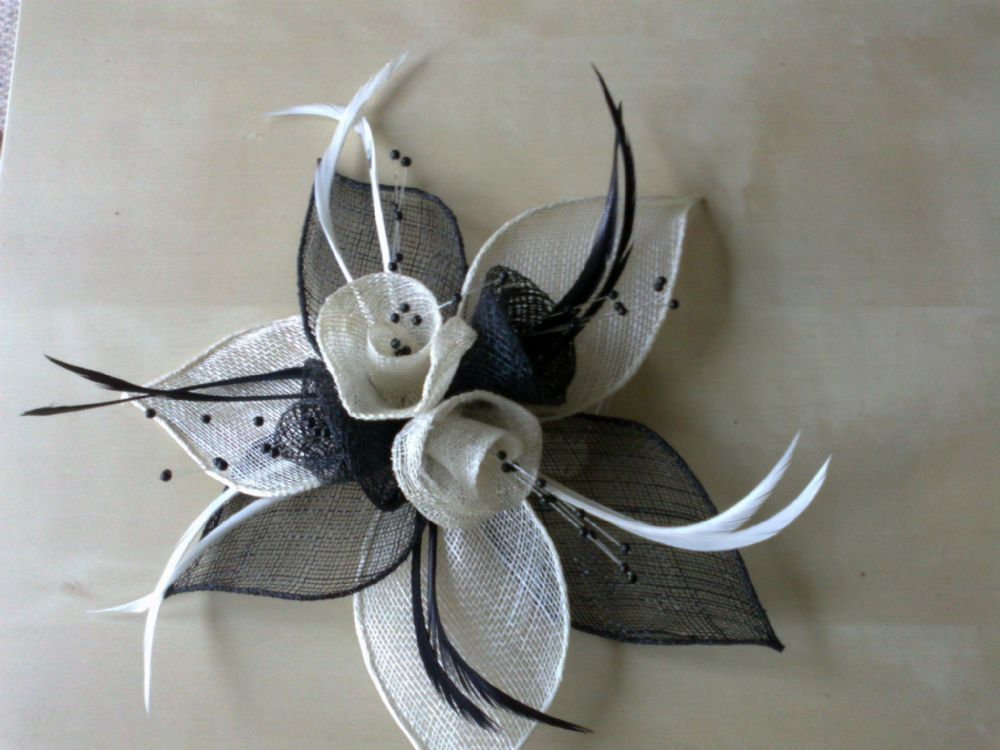 Desire Accessories Handmade Sinamay & Feather Fascinators Wedding Prom Party Races (2)